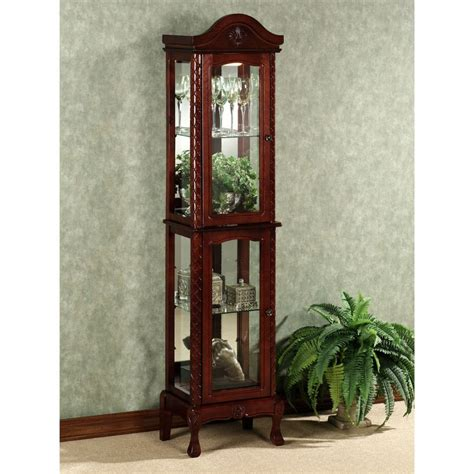 exquisite corner curio cupboard ikearoute homefurniture org