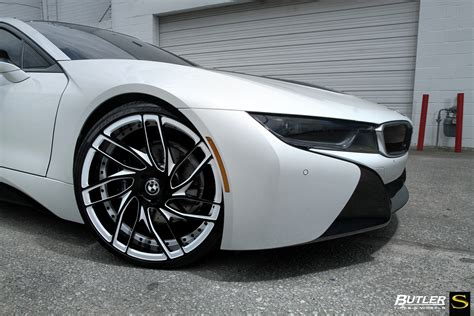 White Bmw Rims by Bmw I8 Savini Wheels