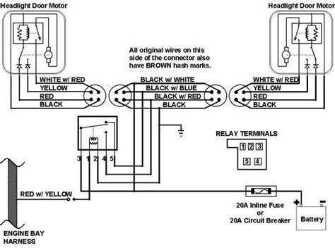 Camaro Headlight Wiring Harness Schematic This The