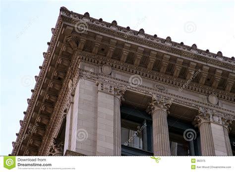 Cornice Architecture by Decorative Building Cornice Royalty Free Stock Photo