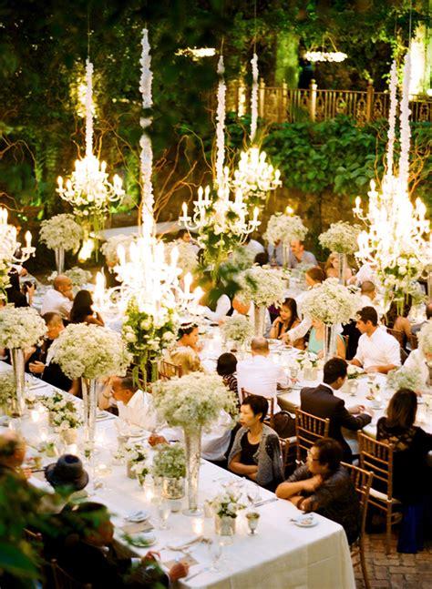 chandeliers  outdoor weddings part  belle  magazine