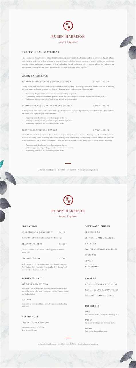 Cv Advice by Cv Template Professional Resume Template Professional