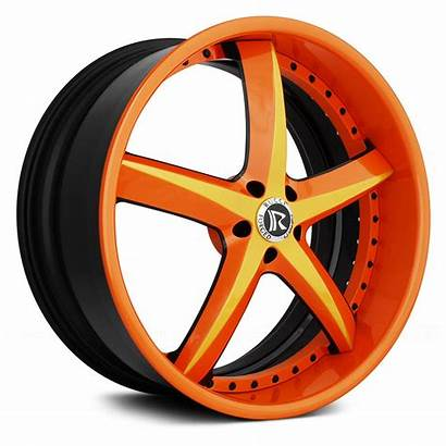 Custom Rucci 3pc Swoops Wheels Painted Rims