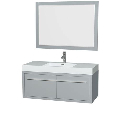 46 Inch Bathroom Vanity Canada by Wyndham Collection Axa 48 Inch W Vanity In Dove Grey With