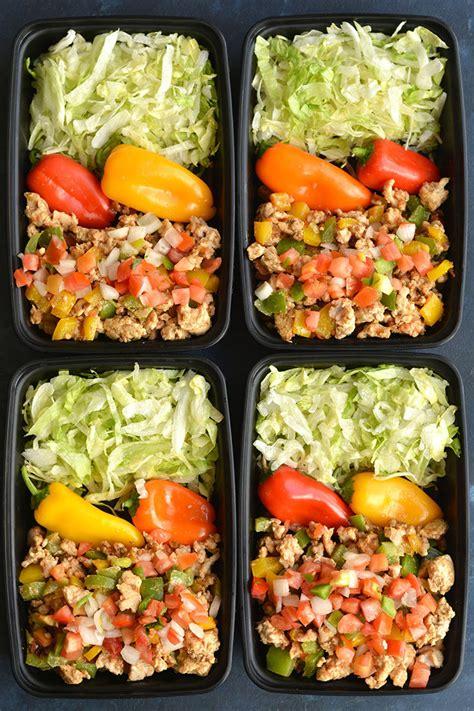meal prep turkey taco bowls  carb paleo gf  cal