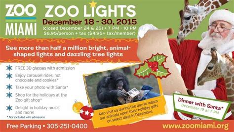 win a pair of tickets to zoo miami s zoo lights miami