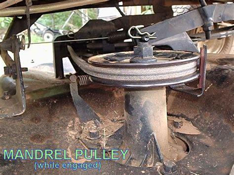 Craftsman Lt1000 Deck Belt by Belt Pulley Problem For Craftsman Lt1000 Lawnsite