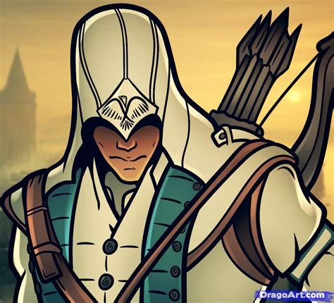 draw connor connor kenway  assassins creed