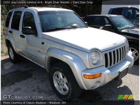 jeep liberty silver inside bright silver metallic 2002 jeep liberty limited 4x4