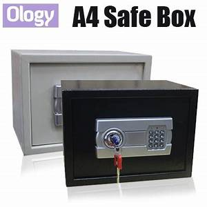 qoo10 large size digital security safety safe box for a4 With safe box for documents
