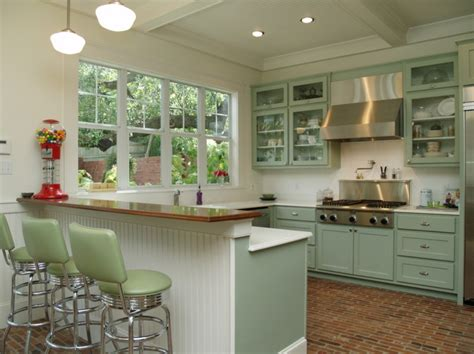 retro kitchen lights schoolhouse shades lend sized style to 1941