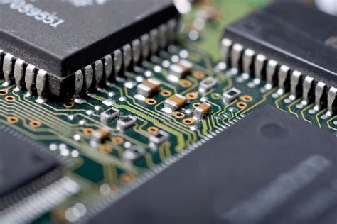 Integrated Circuit Stock Photo Image Magnified Solder