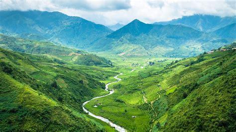 唯美山水风景绿色护眼壁纸_壮观秀丽的山河_风景壁纸_