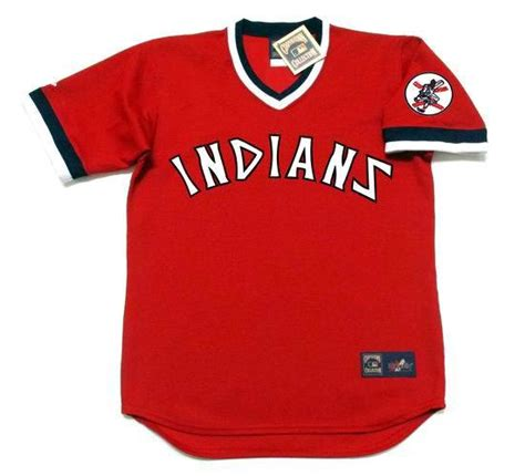 majestic ray fosse cleveland indians  cooperstown baseball jersey