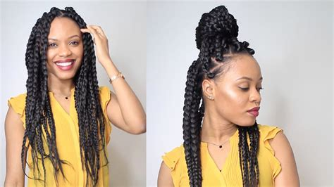 HOW TO: BIG BRAIDS IN 2 HOURS   Protective Style - YouTube