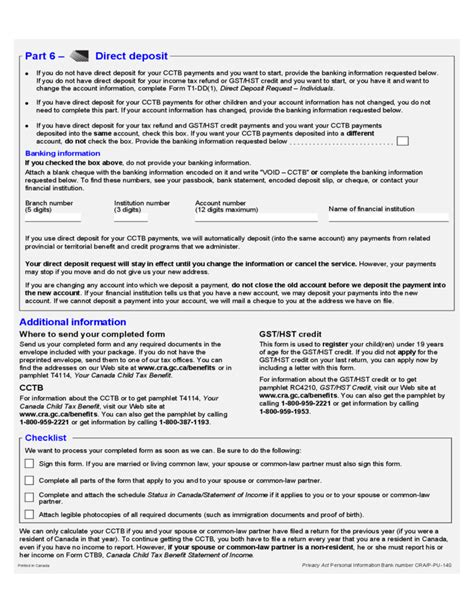 goods and services tax form canada child tax benefit application form canada free download