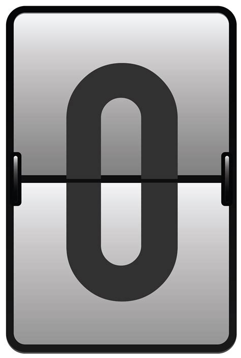 Counter Number Zero Png Clipart Image  Gallery Yopriceville  Highquality Images And