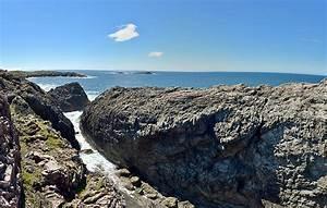 Steep cliff cut panorama, Isle of Islay