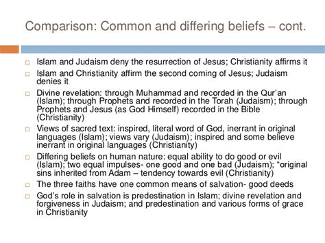 Christianity Islam Comparison Essay by Compare Judaism Christianity And Islam Essay