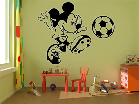 Mickey Mouse Football Kids Disney Wall Stickers Art Room