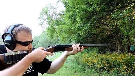 gauge double barrel shotgun shooting youtube