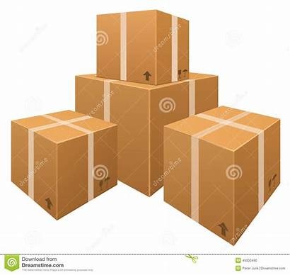 Boxes Clipart Vector Cardboard Box Stack Stacks