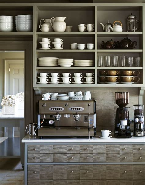 A coffee shop in the heart of hollywood. Shades of Gray home coffee bar in a Kitchen that make a Statement - Martha Stewart's Bedford ...