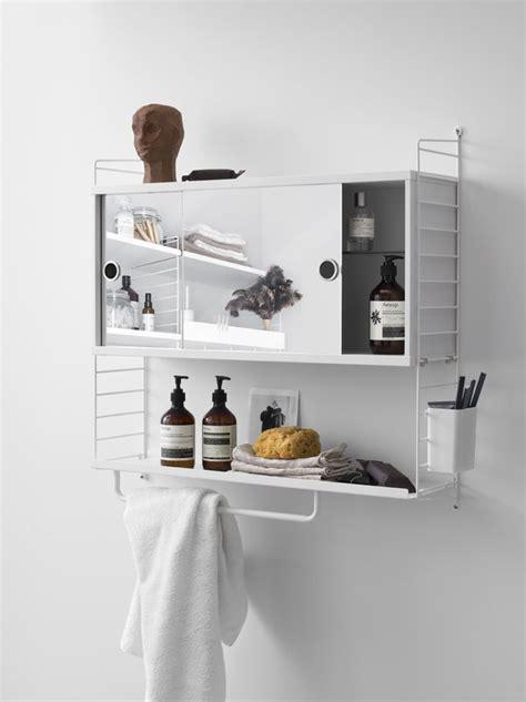 string string mirror cabinet white finnish design shop