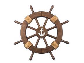 Wooden Sailboat Wall Decor by Buy Rustic Wood Finish Decorative Ship Wheel With Anchor