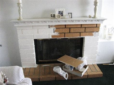 shabby chic brick fireplace paint a fireplace making a house a home pinterest