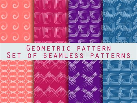Retro Patterns Blue Purple Stock Illustration Illustration Of Colours Intense 2049541