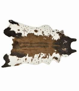 beautiful tapis marron et blanc pictures adininfo With tapis peau de vache avec reparateur de canape cuir