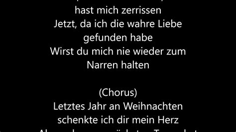 wham lyrics wham last christmas deutsche 220 bersetzung german