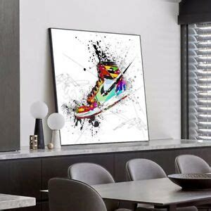This poster will definitely add color to any wall decor. Nike Air Jordan 1 Canvas Print Wall Art | eBay