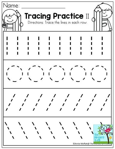 Pre-K Tracing Worksheet Printables