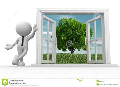 Offenes Fenster Bild by Offenes Fenster Stock Abbildung Illustration Leute