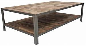 Table Bois Et Fer : table basse fer et bois ~ Teatrodelosmanantiales.com Idées de Décoration