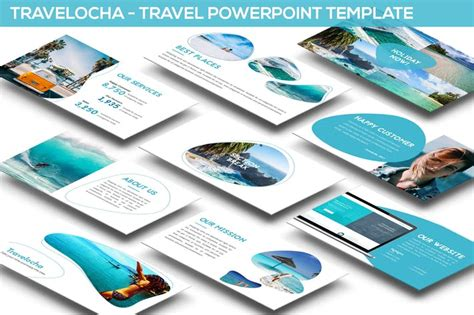 travelocha travel powerpoint template  slidefactory