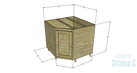 how to build a corner cabinet for a tv a corner base cabinet for a kitchen remodel designs by