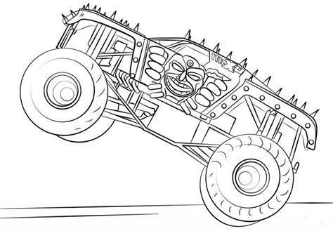 monster jam coloring pages  print