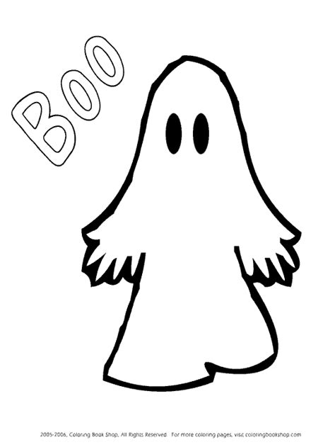 Free Halloween printable coloring pages  ghost