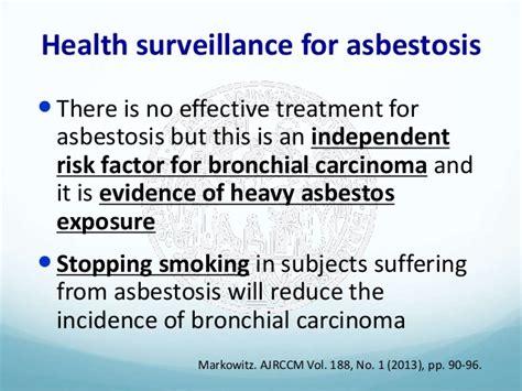 health surveillance  asbestos exposed workers