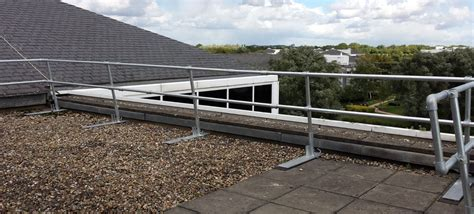 installation complete free standing edge protection to reduce the risk of falling ecex