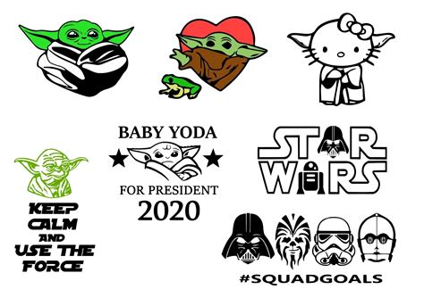 These are digital files, no physical item will be sent. Baby Yoda SVG, 80+ Baby Yoda SVG Bundle - Quality SVGs