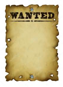 Old Western Wanted Sign Template Free