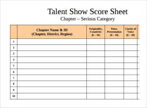 wedding proposals sle talent show score sheet 9 documents in pdf