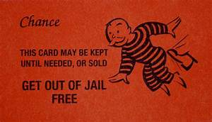get out of jail free card photograph get out of jail With get out of jail free card template