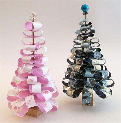 miniature christmas trees  christmas tree papercraft