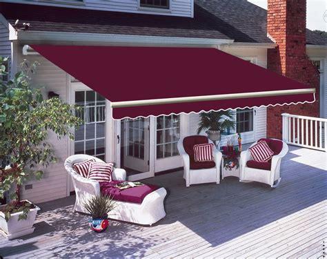 patio manual awning garden canopy sun shade retractable shelter wine  ebay