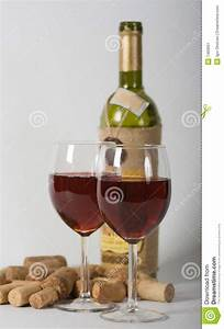 Two Glasses With Red Wine Stock Image - Image: 7493661